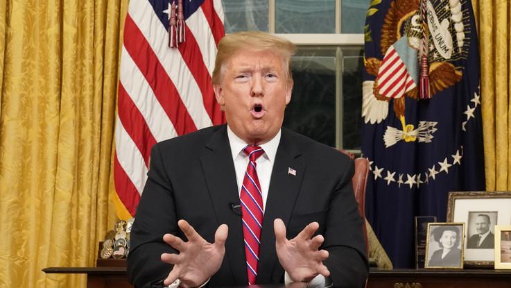 """Trump insiste nel discorso alla Nazione: """"Voglio il muro contro lo spargimento di sangue americano"""""""