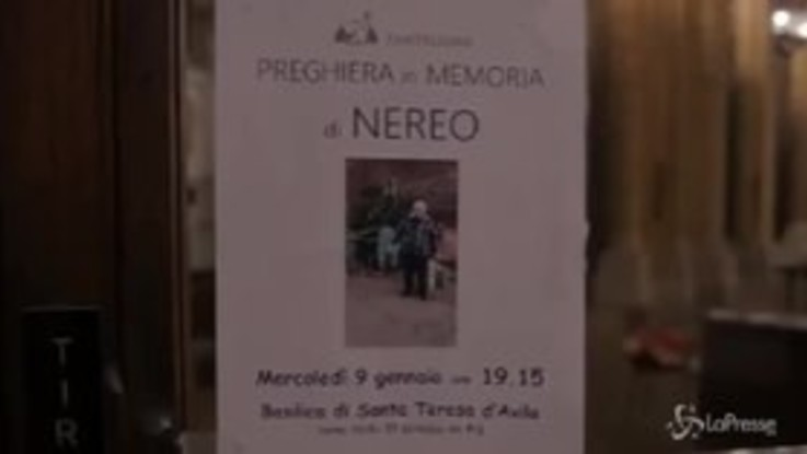 Roma ricorda Nereo, il clochard ucciso da un'auto pirata
