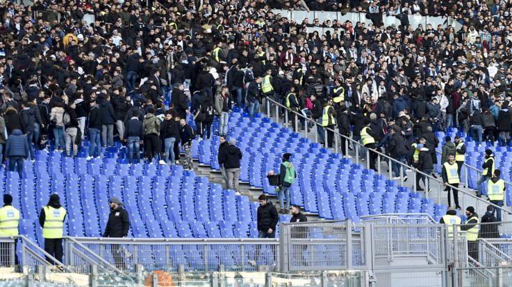 Coppa Italia, cori razzisti e antisemiti dalla curva della Lazio nel match contro il Novara