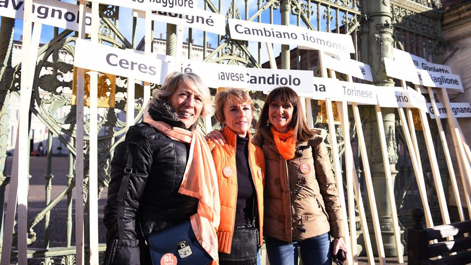 Le promotrici del Comitato Sì Torino va avanti ©