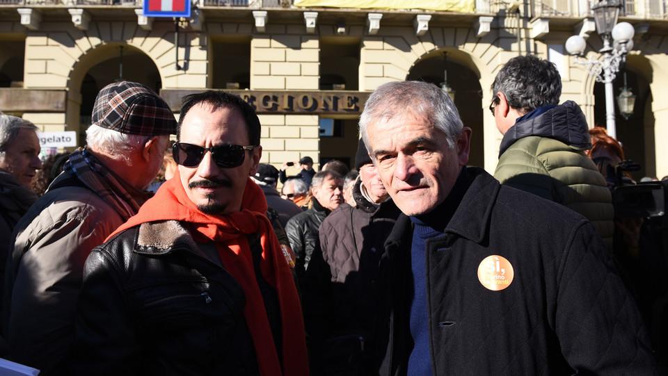 Il presidente della Regione Piemonte Chiamparino alla manifestazione ©
