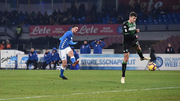 Coppa Italia, Napoli-Sassuolo 2-0