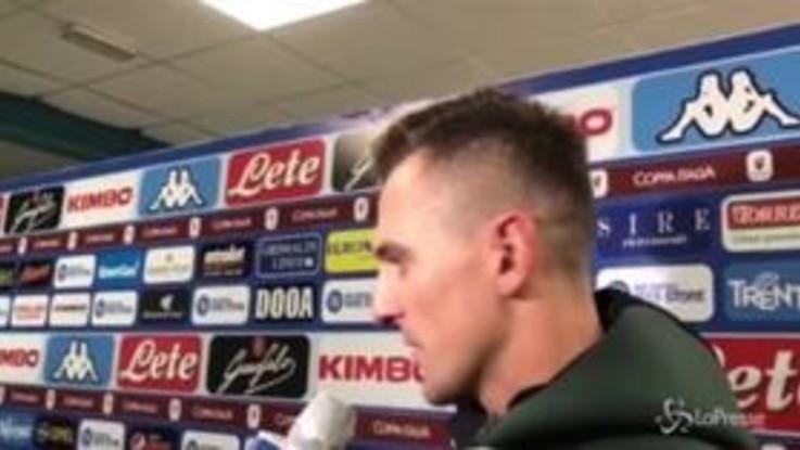"""Napoli, Milik: """"Contento per il gol, vogliamo arrivare fino alla fine"""""""