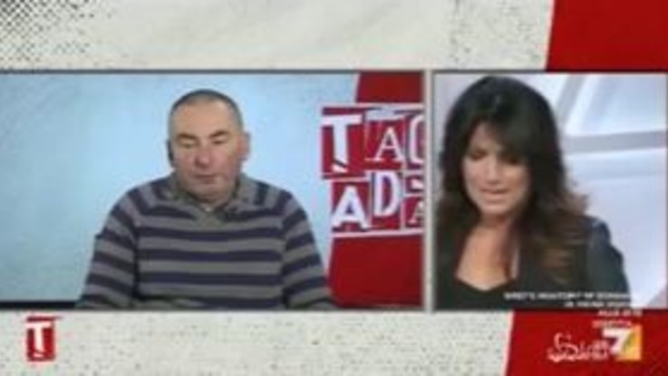 """Arresto Battisti, il figlio di Sabbadin a Tagadà: """"Il perdono non esiste nel mio vocabolario"""""""