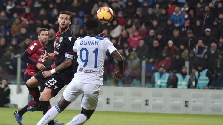 Coppa Italia, super Zapata manda l'Atalanta ai quarti: Cagliari ko 2-0