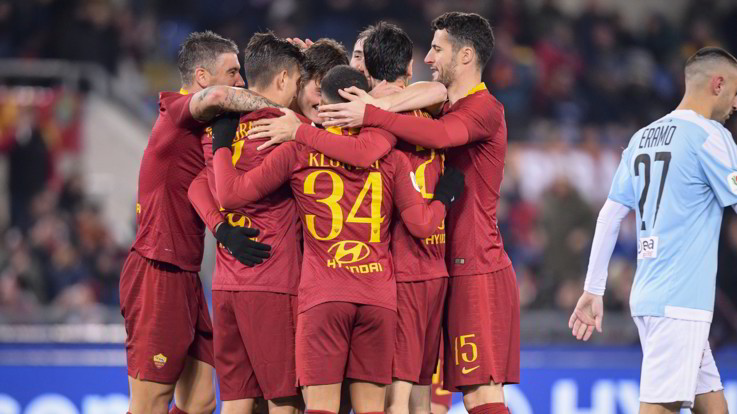 Coppa Italia: poker Roma all'Entella, brilla Schick. Cori contro Napoli