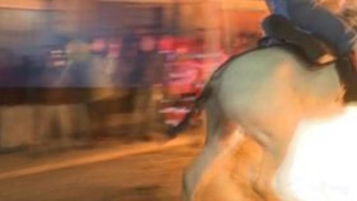 Spagna, la spettacolare corsa dei cavalli tra le fiamme