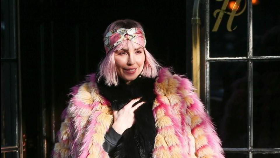 Noomi Rapace a New York per promuovere il suo nuovo film