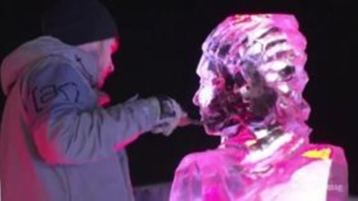 Francia, ecco la gara di sculture di ghiaccio