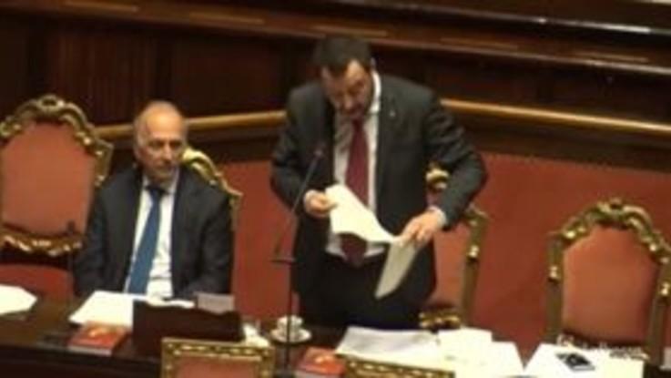 """Sbarchi, Salvini: """"Sono scesi da 300mila a 23mila"""""""