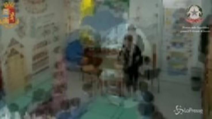 Schiaffi, strattoni e urla: le immagini dei bimbi maltrattati in una scuola materna di Isernia