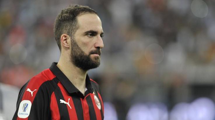 Milan, l'addio di Higuain è certo: l'argentino non convocato con il Genoa