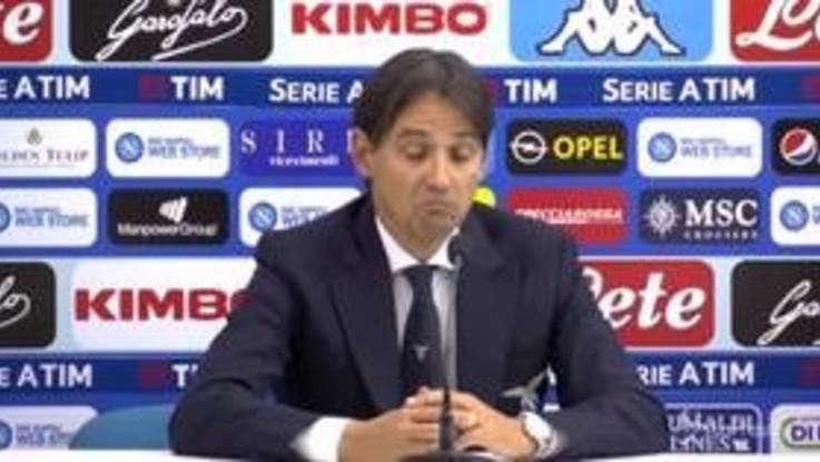 """Lazio, Inzaghi: """"Vittoria del Napoli meritata, espulsione di Acerbi inventata"""""""