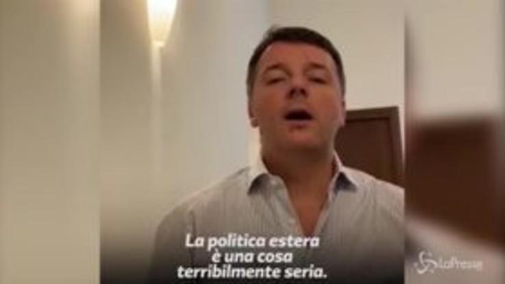 """Renzi: """"La politica estera? L'unico atto del governo è la nomina di Lino Banfi"""""""