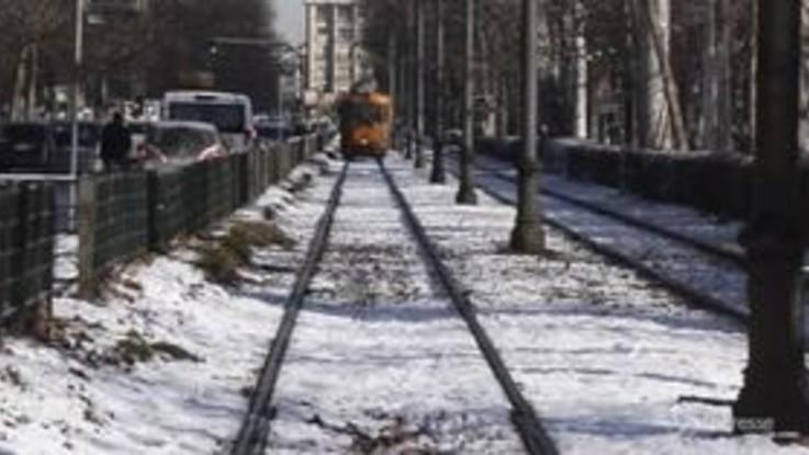 Neve a Torino: la città si sveglia imbiancata