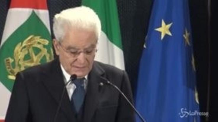 """Mattarella: """"Combattere ogni focolaio di odio è dovere morale"""""""