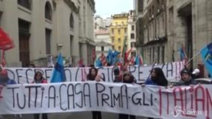 Castelnuovo di Porto, la protesta davanti al Mise per la chiusura del Cara