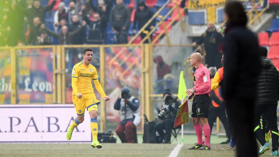 Ghiglione esulta dopo il gol ©