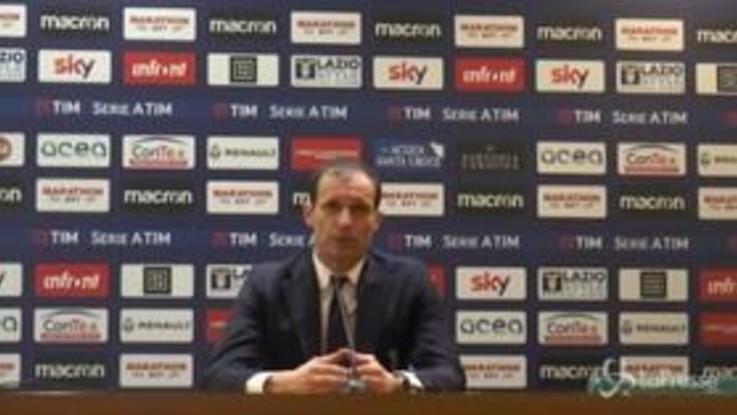 """Juventus, Allegri: """"Per vincere lo scudetto bisogna passare da queste partite"""""""