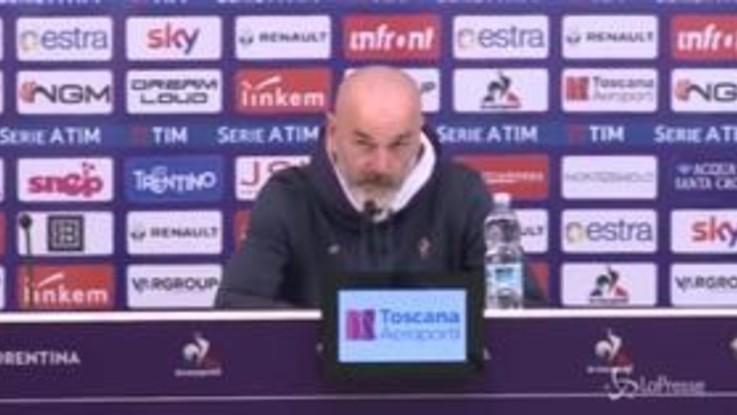 """Coppa Italia, Pioli: """"Roma grande avversario, voglio una Fiorentina aggressiva"""""""