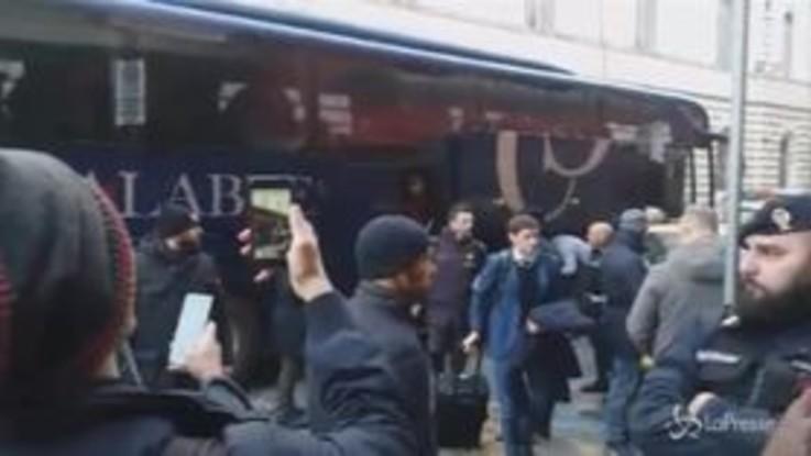 Coppa Italia, Fiorentina-Roma: la partenza dei giallorossi per Firenze