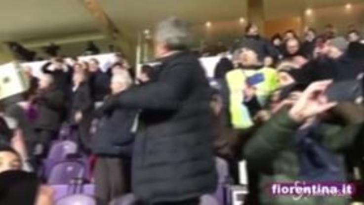 Fiorentina travolge Roma, festa al Franchi: Pupo canta con i tifosi