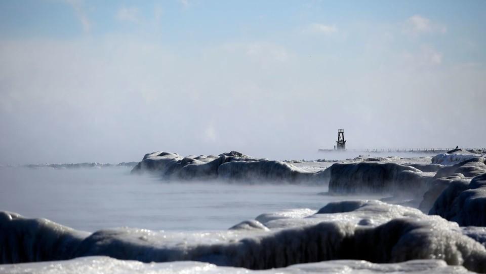 Il lago Michigan ghiacciato ©