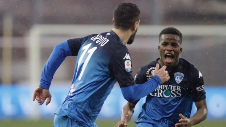 Serie A, super Caputo salva l'Empoli: 2-2 contro il Chievo