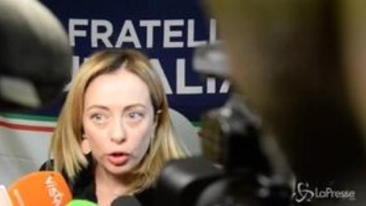 """Centrodestra, Meloni: """"Lavoriamo per recuperare l'elettorato perso per strada"""""""