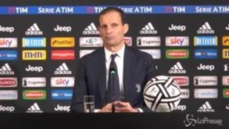"Juve, Allegri: ""Dispiace aver regalato due punti"""