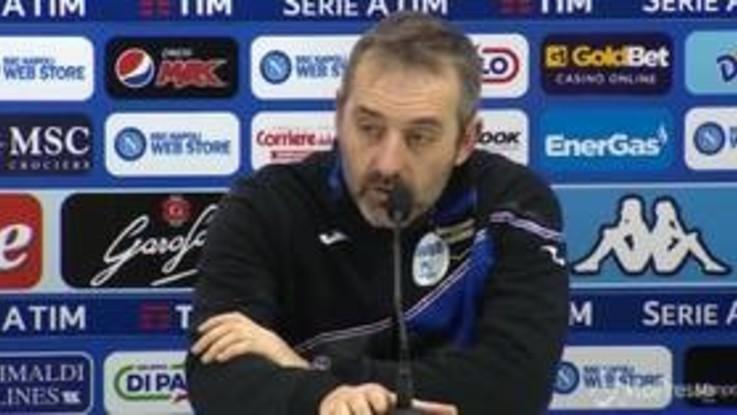 """Sampdoria, Giampaolo: """"Napoli troppo forte ma questa sconfitta non cambia nulla"""""""
