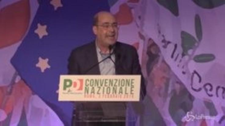 """Pd, Zingaretti: """"No a essere sempre gli stessi con vestiti diversi"""""""