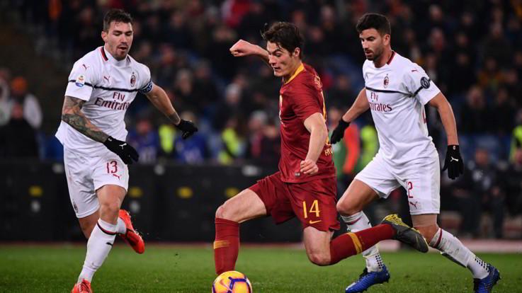 Serie A, la Roma c'è: Zaniolo replica a Piatek. È 1-1 con il Milan