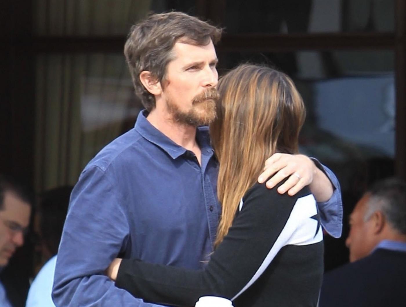 Christian Bale, momento tenerezza con la moglie Sibi Blazic