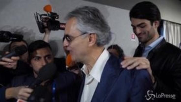 """Sanremo, Bocelli: """"Mi fa piacere che la Lega usi le mie canzoni"""""""