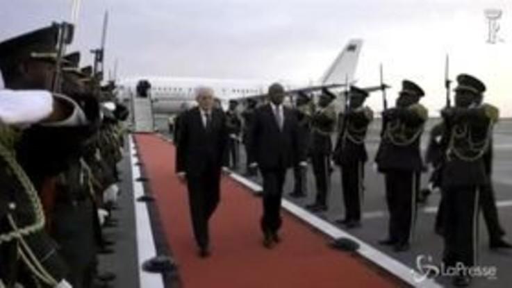 Mattarella arriva in Angola: la prima visita di un capo di Stato italiano