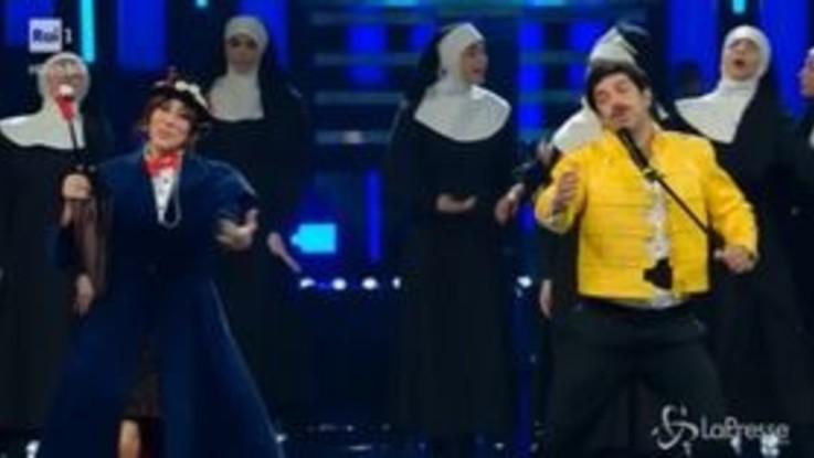 Sanremo, Raffaele-Favino: duetto a suon di musical