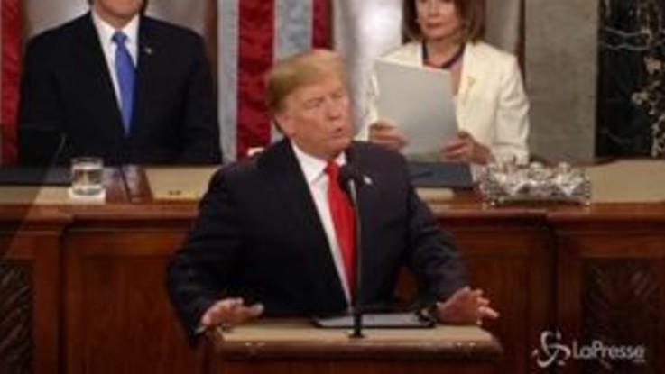 Trump: appello all'unità nel discorso al Congresso