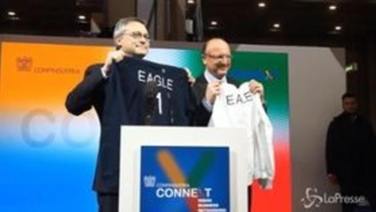 Felpe 'Eagle One': il regalo di Bonomi al presidente di Confindustria Boccia