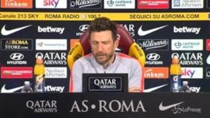 """Roma, Di Francesco: """"Olsen e Manolas fuori, rientra Jesus"""""""
