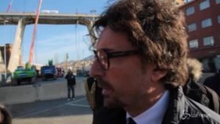 """Genova, Toninelli: """"Lo Stato non pagherà il nuovo ponte"""""""