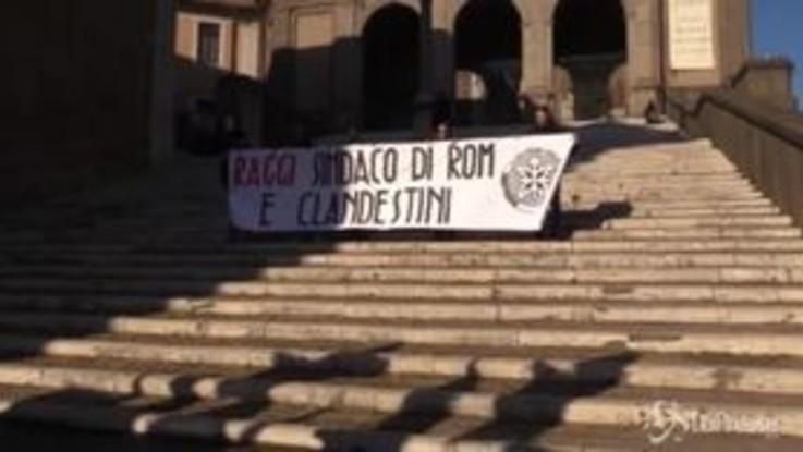 Sit-in di CasaPound in Campidoglio: proteste contro Raggi