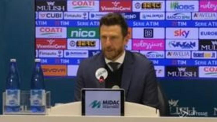 """Di Francesco: """"Dzeko? Grandi giocate, spero si sia tenuto qualche gol per il Porto"""""""
