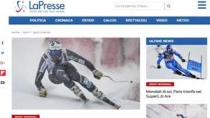 Mondiali di sci, niente bis per Dominik Paris