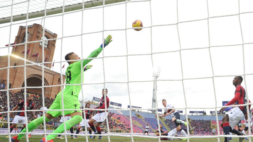 Lukas Lerager (Genoa CFC) realizza il gol dell'1-1 ©
