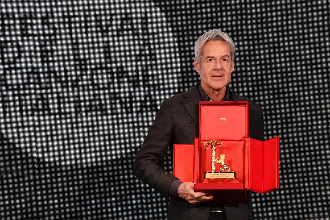 Claudio Baglioni premio Amico di Sanremo 2019