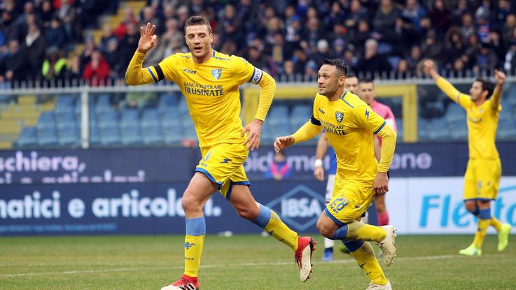 Serie A, Frosinone torna a sperare: passo falso Samp, decide Ciofani