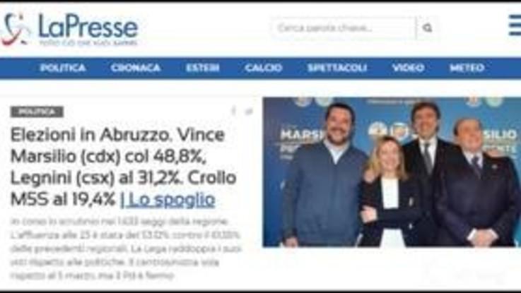"""Abruzzo al centrodestra, Marsilio presidente: """"Daremo alla regione il futuro che merita"""""""