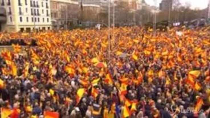 Spagna, manifestazione contro il governo Sanchez
