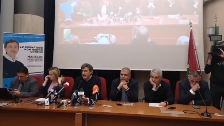 """Abruzzo, Marsilio: """"Per la prima volta la Lega governa una regione del centrosud, è una svolta. M5s? Sconfitta clamorosa"""""""